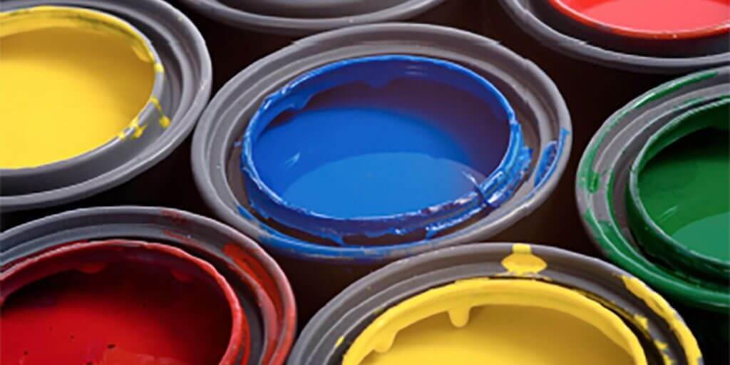 Medição do conteúdo de água em tintas e materiais relacionados