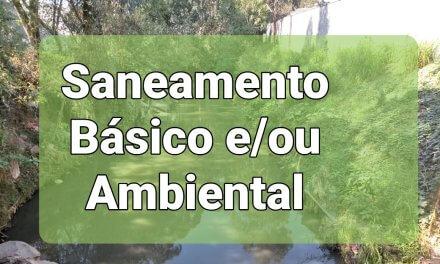 Saneamento Básico e/ou Ambiental